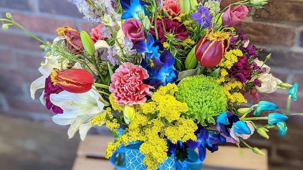 Color my world bouquet