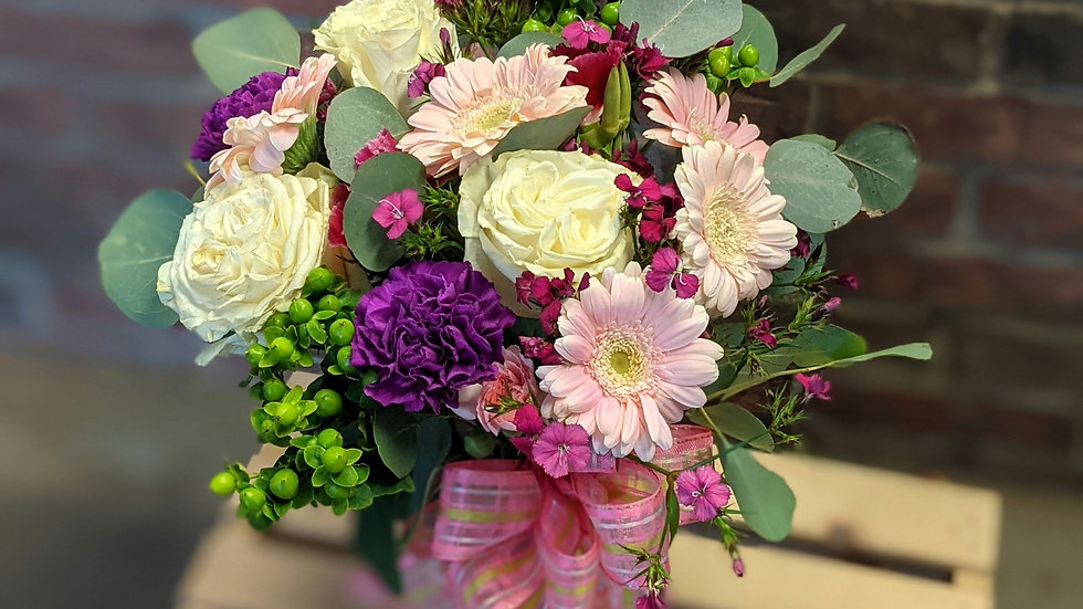 Pink Gerbera vase