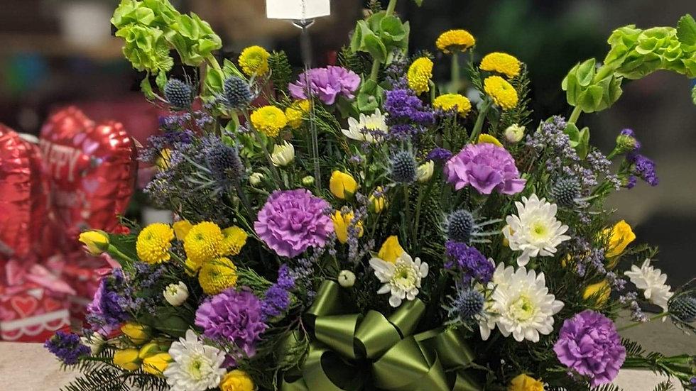 Sympathy florist choice $70 basket