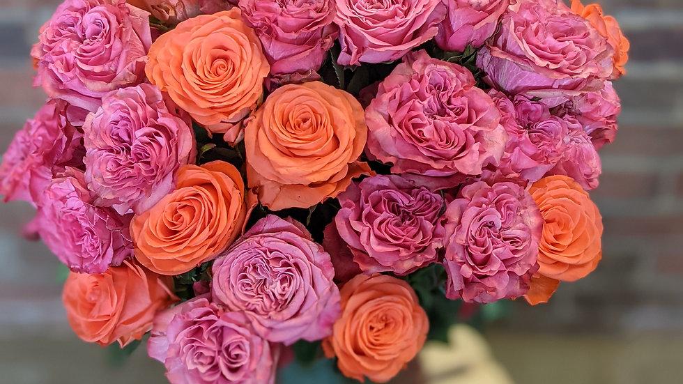 4 dozen mixed garden roses