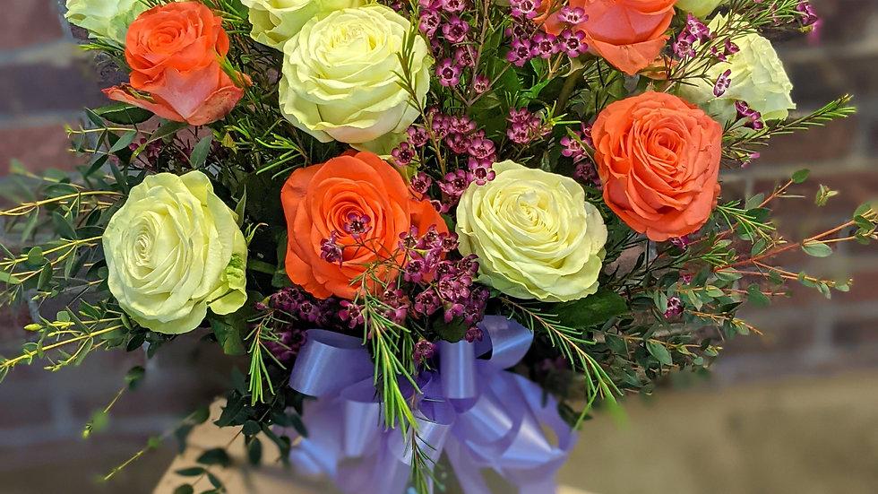 18 mixed garden roses