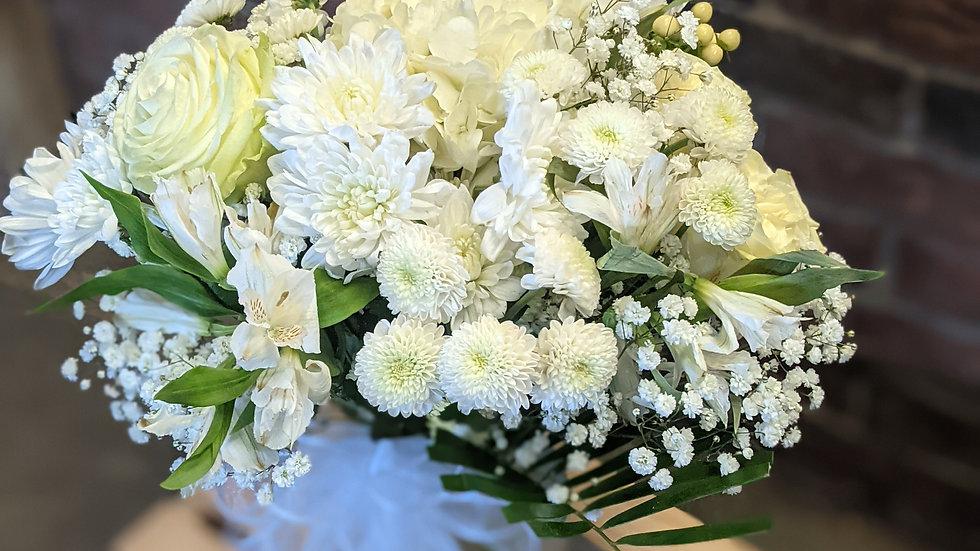 Perfectly Serene all white vase