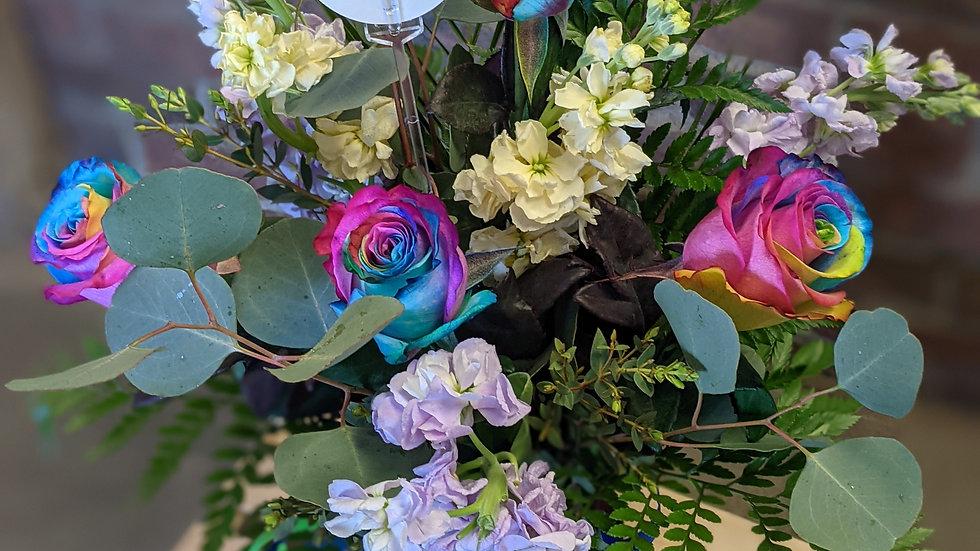 Petite rainbow rose mix