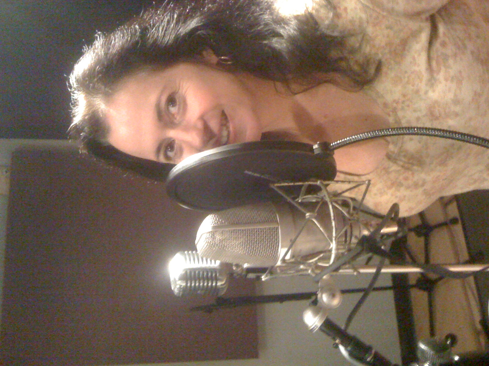 Melina in the studio