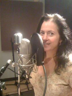Melina in the studio