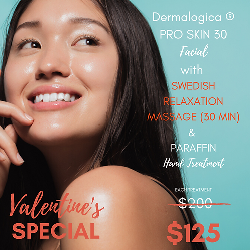 Dermalogica ® PRO SKIN 30 Facial with 30 Min Massage & Paraffin Hand Treatment