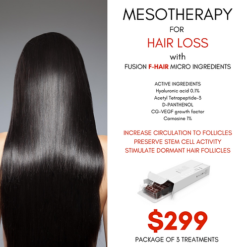 Mesotherapy For Hair Loss - PKG of 3