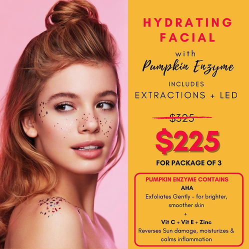 Hydrating Facial with Pumpkin Enzyme - Pkg of 3