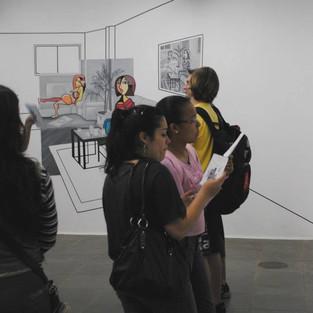 """Exposição """"Ambiências na Parede"""", galeria Loíde Schwambach, Fundarte, 2010."""