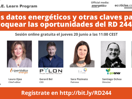 Webinar: Los datos energéticos y otras claves para optimizar las oportunidades de negocio del RD244/