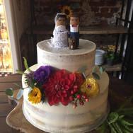 Arranjo para bolo de verdade de casament