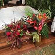 Arranjos para festa tema Hawaii