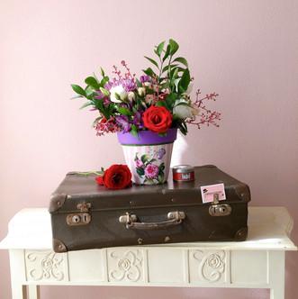 Arranjo G estampa Floral rosa