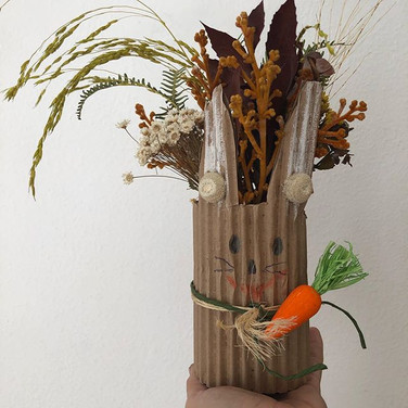 Arranjo de flores secos por Pascoa