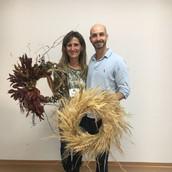 Guirlandas com folhas e flores secas com Michel Benevenute