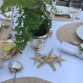 Detalhe decoraçao mesa posta tema mar