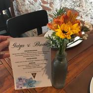 Solitario para mesa de convidados
