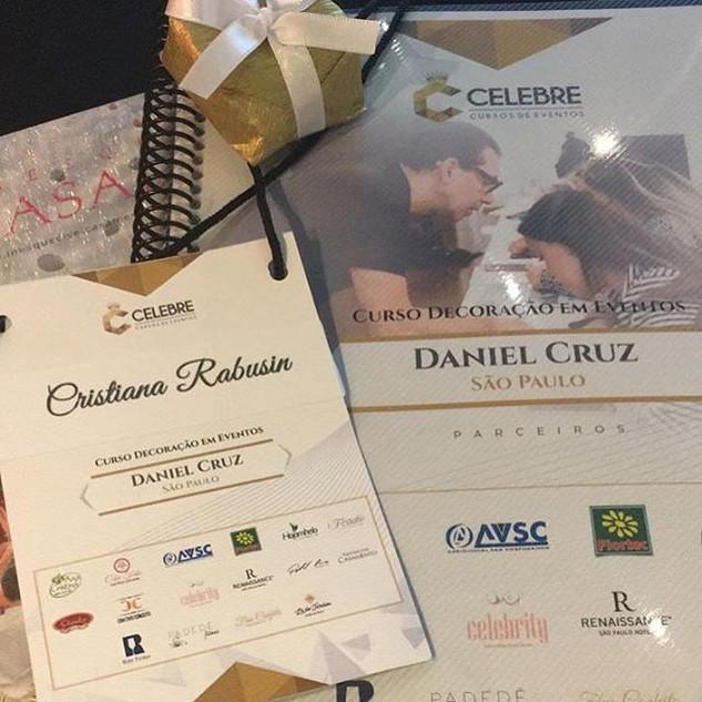 Curso de decoraçao de eventos com Daniel Cruz
