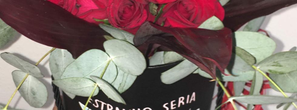 Bouquet de rosas com caixa