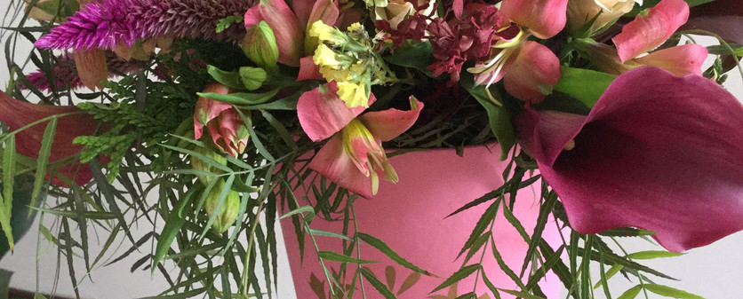 Bouquet mixto de aniversario com caixa