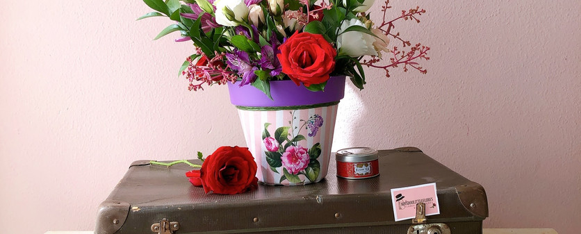 Arranjo coleçao aviamentos com rosas G