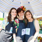 As amigas floristas no stand festival Design Week Sao Paulo 2019