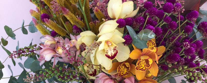 Buquet tamanho G com orquideas