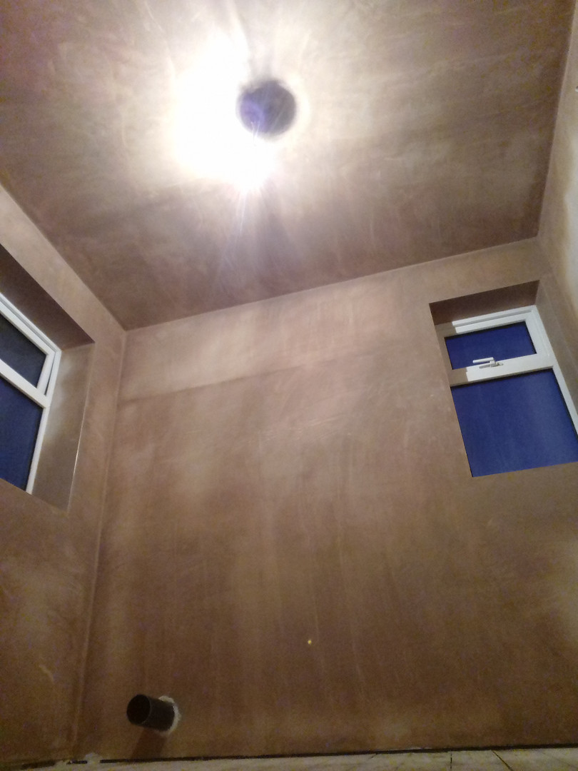 Plastered Bathroom