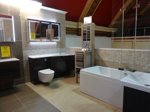 Modern Bathroom Suite In Our Showroom