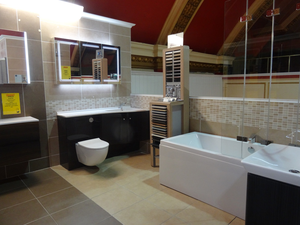 Modern Bathroom Suite In Our Showroom