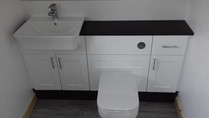 White And Black Bathroom Suite