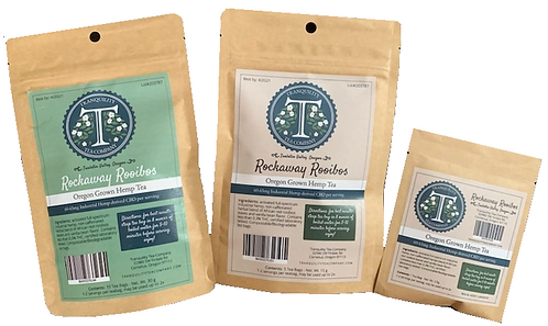 Tranquility Tea Company CBD Hemp Tea 60-600mg CBD per/package (Rockaway Rooibos)