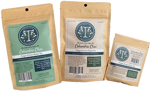 Tranquility Tea Company CBD Hemp Tea 60-600mg CBD per/package (Columbia Chai)