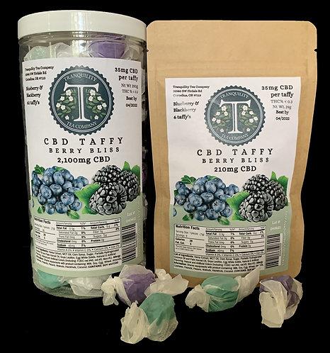 Tranquility Tea Company CBD Taffy 210-2,100mg CBD per package (Berry Bliss)