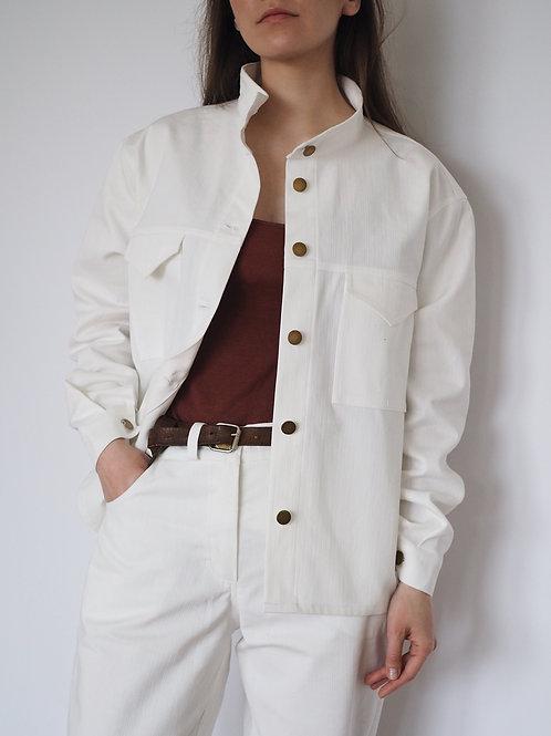 Куртка-рубашка хлопковая белая