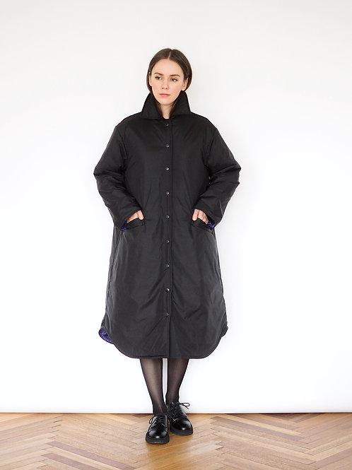 Пальто-рубашка утепленное