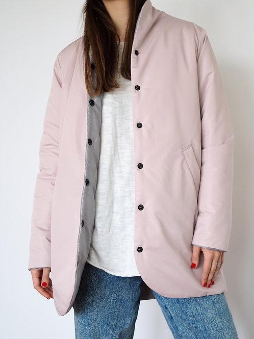 Куртка розовая с тонким утеплителем