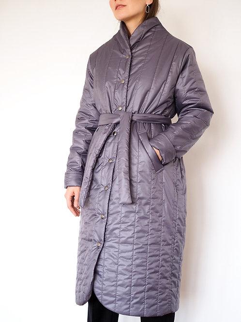 Пальто стеганое утепленное