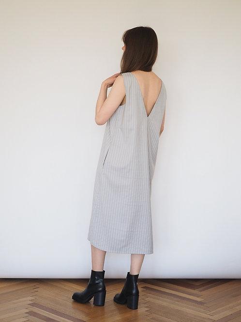 Платье-сарафан светло-серый
