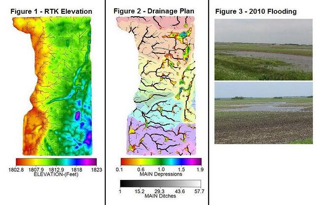 RTK Elevation Map, Drainage Plan, 2010 Flooding, Drainage Maps, CropPro