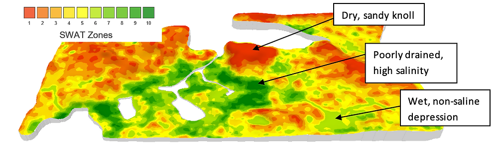SWAT MAP with soil and water properties