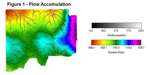 Flow Accumulation Map, RTK Elevation, Drainage Planning, CropPro