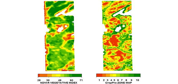 Satellite Imagery, CropPro Zone Map, NDVI-R