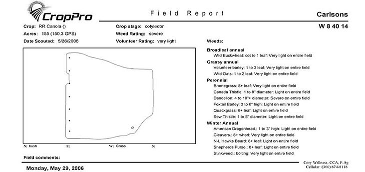 CropPro Field Report, Consulting Software, CropPro, CropRecords, GIS