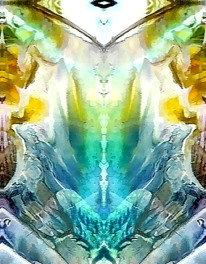 The Priestess and Angel (Postcard)