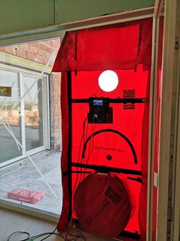 Blower door test - hermeticidad