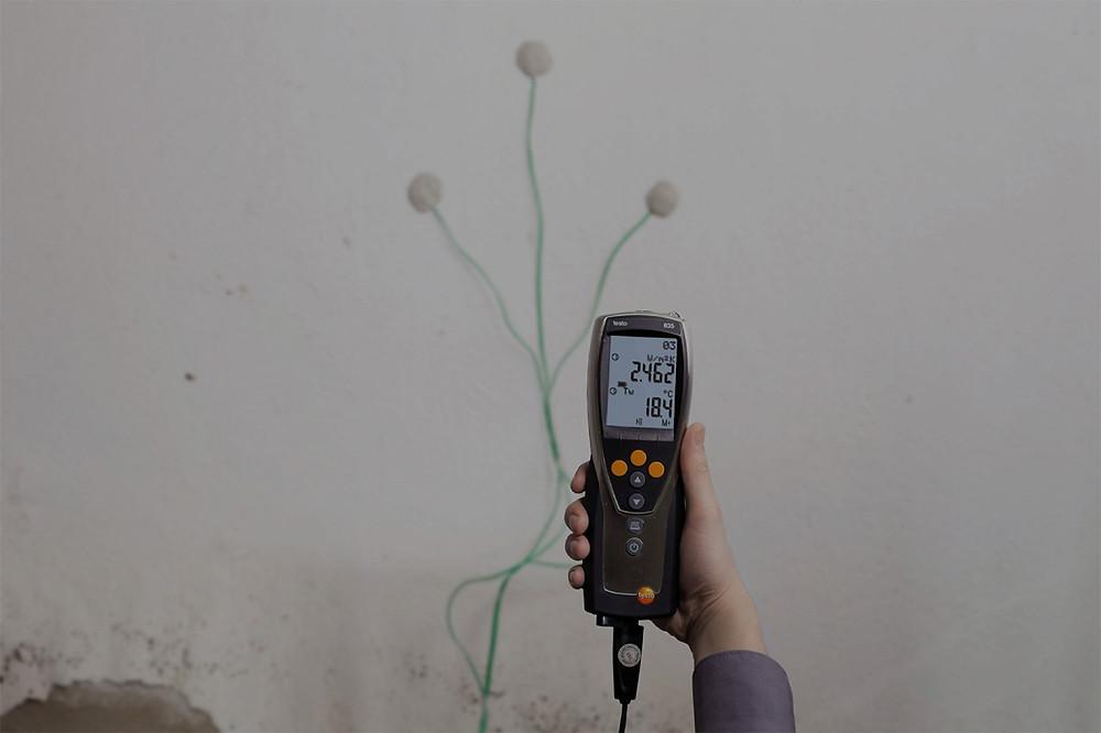 ensayo de cálculo de transmitancia térmica de muro