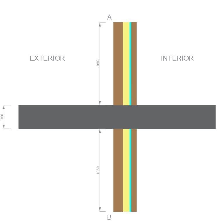 Puente térmico fachada con voladizo descripción