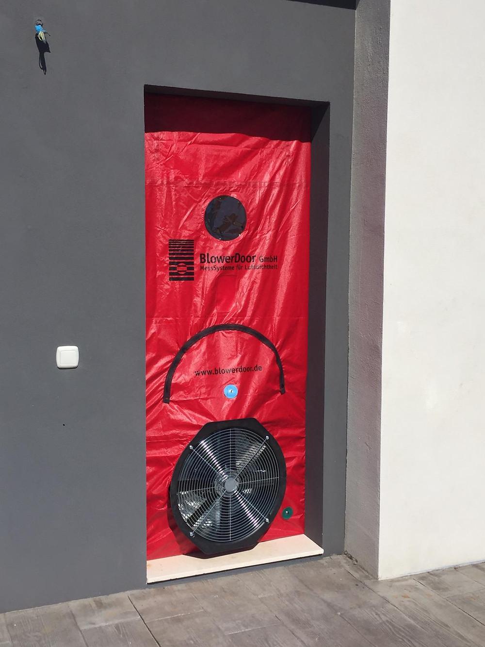 ensayo blower door
