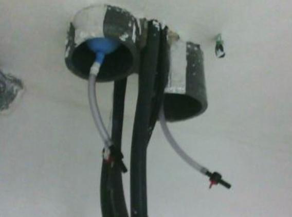 Sellado mediante globos la admisión y extracción de ventilación
